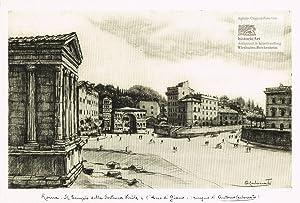 Roma. Il Tempio della Fortuna Virile e: Antonio Carbonati (1893-1956),