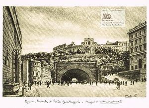 Roma. Piazzale di Porta Cavalleggeri. Ansicht der: Antonio Carbonati (1893-1956),