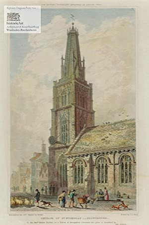 Church of St. Nicholas: Gloucester. Schöne große: William H. Bartlett