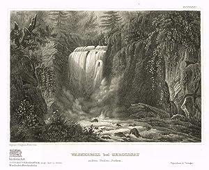 Wasserfall bei Geroldsau unfern Baden-Baden. Schöne Ansicht: Anonymus