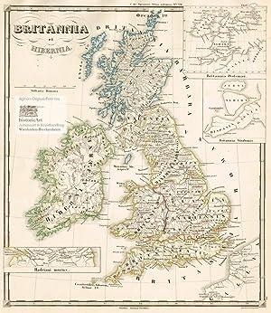Britannia et Hibernia. Große Landkarte von Grossbritannien: Karl Spruner von