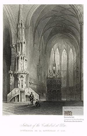 Interior of the Cathedral at Ulm. Intérieur: William H. Bartlett