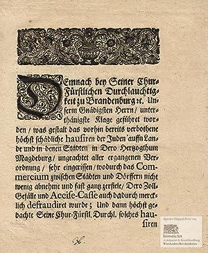 Seiner Chur=Fürstlichen Durchlauchtigkeit zu Brandenburg etc. Edict: Friedrich I. (1657-1713),