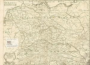 Germania Antiqua. Große Landkarte des antiken Germaniens: Nicolas Sanson (1600-1667),