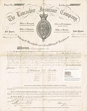The Lancashire Insurance Company. Foreign fire policy for stock of merchandise and premises of He...