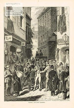 Vienna. The Jews' Quarter. Lebhaftes Markttreiben im: Anonymus