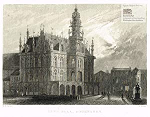 Town Hall, Audenarde. Ansicht des Rathauses von: William H. Bartlett
