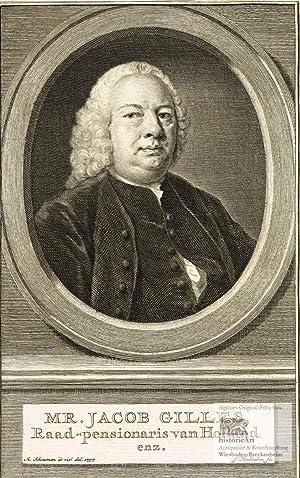 Mr. Jacob Gilles, Raad-pensionaris van Holland enz.: Jacob Gilles (1691-1765),