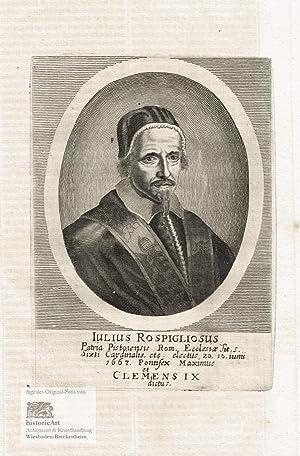 Iulius Rospigliosus Electus Iunii 1667. Pontifex Maximus: Clemens IX. (1600-1669),