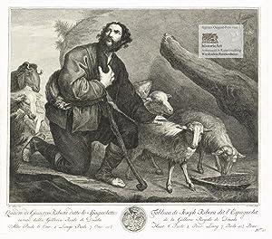Jakob hütet die Schafe seines Onkels Laban: Jusepe de Ribera