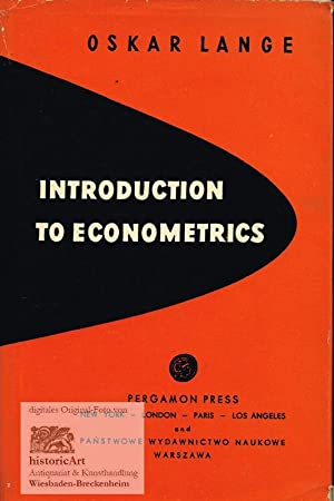 Introduction to Econometrics: Oskar Lange (Text);