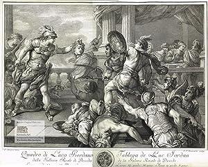 Perseus zeigt König Phineus und seinen Gefährten,: Luca Giordano (1634-1705),