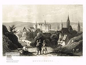 Quedlinburg. Gesamtansicht von Quedlinburg im Harz von: John James Hinchliff