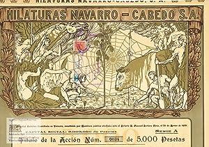 Hilaturas Navarro-Cabedo Sociedad Anonima en Valencia. Zertifikat: Hilaturas Navarro-Cabedo Sociedad