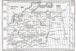 Germania Ptolemaei. Landkarte des antiken Germanien nach: Karl Kärcher (Lebensdaten