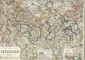 Übersichts-Karte von Thüringen. Große Landkarte von Thüringen: Major Carl Radefeld