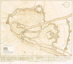 Luick, Leodium. Kleiner Befestigungsgrundriss von Lüttich an: Petrus Schenk (1661-1711),