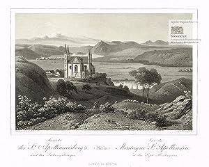 Ansicht des St. Apollinarisberg's und des Siebengebürges: Rudolf Dielmann; William