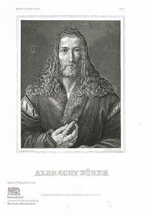 Albrecht Dürer. Halbfigur mit wallendem Haupthaar in: Albrecht Dürer (1471-1528),