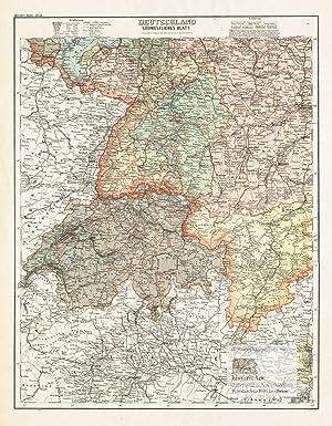 Karte Süddeutschland österreich Schweiz.Neueste Karte Von Deutschland Der Schweiz