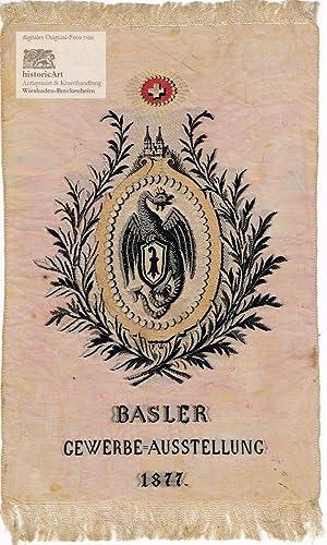 Seidenstickerei der Basler Gewerbe=Ausstellung 1877 mit Drache: Anonymus