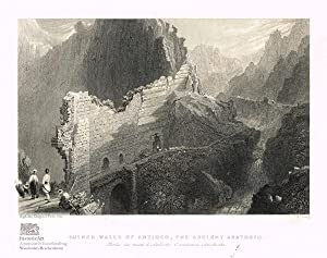 Ruined Walls of Antioch, the Ancient Anathoth. Partie des murs d'Antioche, l'Ancienne Anathothe. ...