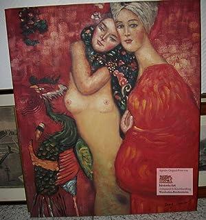 Zwei Freundinnen. Ölgemälde auf Leinwand mit Keilrahmen: Gustav Klimt (1862-1918),