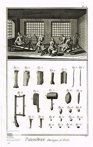 Patenotrier. Paternostermacher oder Rosenkranzhersteller. Blick in eine: Denis Diderot; Jean