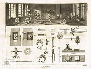 Epinglier. Nadelhersteller. Blick in eine Werkstatt mit: Denis Diderot; Jean
