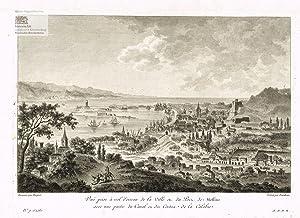 Vue prise à vol d'oiseau de la: Jean Dambrun (1741-1808)