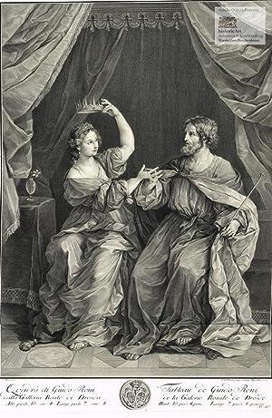 Ninus übergibt der Semiramis seine Krone. Großer: Charles Francois Hutin