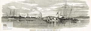 Sketches in China. Looking Towards Whampoa from Canton. Xylographie um 1860
