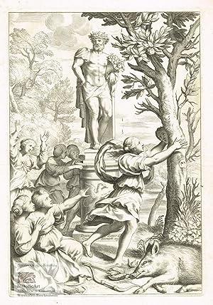 Leonille, Tochter von Tirsenia, wird in einen: Cornelis Bloemaert (1603-1692),