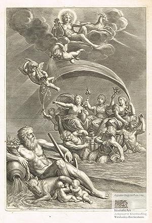 Die Hebriden bringen in einem von Satyren: Cornelis Bloemaert (1603-1692),