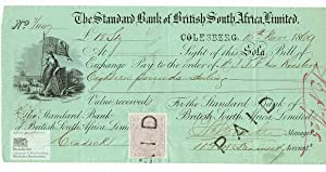 The Standard Bank of British South Africa, Limited. Sola Bill of Exchange for 18 Pounds Sterling ...