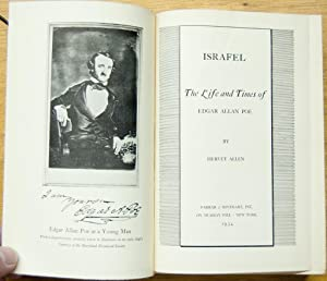 Israfel: The Life and Times Of Edgar Allan Poe: Allen, Hervey