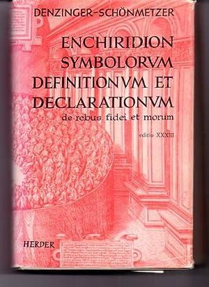 Enchiridion symbolorum definitionum et declarationum de rebus: Denzinger, Heinrich und