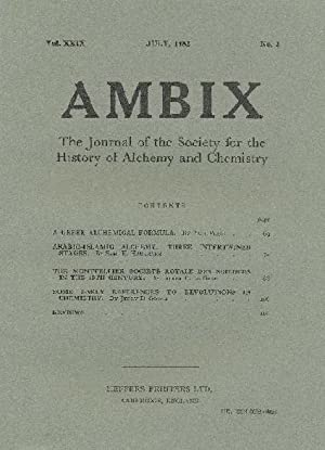 AMBIX. The Journal of the Society for: BROCK, Dr. W.