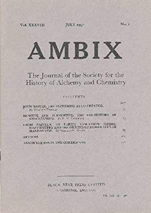 AMBIX. The Journal of the Society for: SUTTON, Dr. M.A.