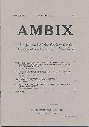 AMBIX. The Journal of the Society for: ROBERTS, Dr. Gerrylynn.