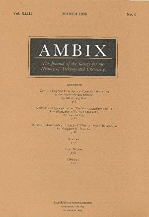 AMBIX. The Journal of the Society for: ROBERTS, Dr. Gerrylynn