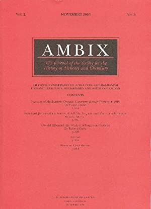 AMBIX. The Journal of the Society for: MORRIS, Peter J.T.