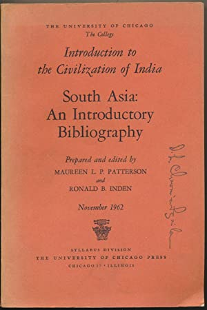 South Asia: An Introductory Bibliography ( Introduction: PATTERSON, Maureen L.