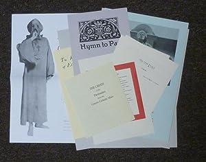 Facsimile Ephemera Collection produced by Mandrake Press: CROWLEY, Aleister.