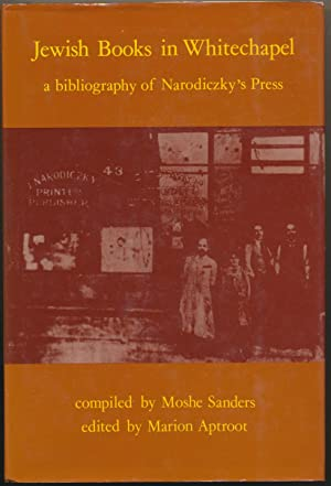 Jewish Books in Whitechapel: A Bibliography of: SANDERS, Moshe (