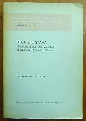 Stuti and Stava: (Bauddha, Saiva and Vaisnava) of Balinese Brahman priests.: GOUDRIAN, T. and ...