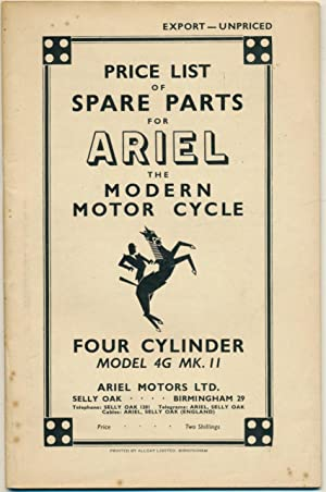 Price List of Spare Parts for Ariel: Ariel.