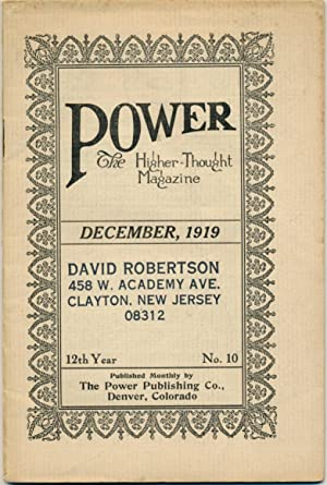 Power: The Higher-Thought Magazine, No.10, December 1919.