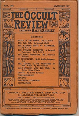 The Occult Review, Vol VIII, No.1, July: Florence Farr, A.