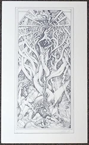 A signed, limited-edition print of an original tarot design
